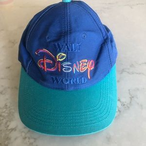 Vintage Walt Disney World Hat Blue and Turquoise